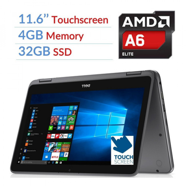 Dell Inspiron 11 5000 Laptop-11-3185|11.6-in|AMD A6-9220e Processor|4GB 32GB SSD|Radeon™ R4 Graphics|Windows 10 Home 64-bit EN|Touch Display