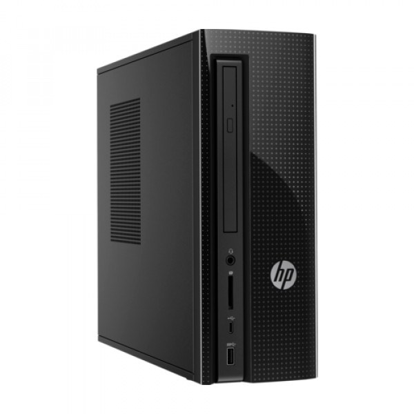 HP Slimline Desktop - 270-a035z - AMD Dual-Core A-Series processor|8 GB memory; 1 TB HDD storage|AMD Radeon™ R5 Graphics|DVD player|Windows 10 Home 64
