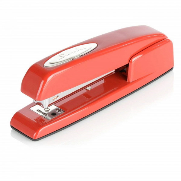 Swingline Stapler, 747 Iconic Desktop Stapler, 25 Sheet Capacity, Rio Red