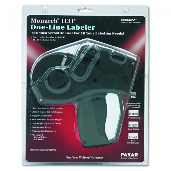 Monarch Pricemarker, Model 1131, 1 Line, 8 Characters/Line, 7/16 x 7/8 Inches, Label Size