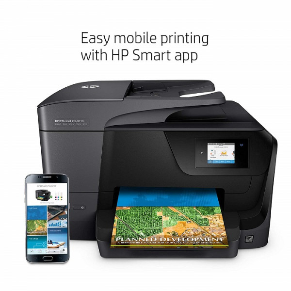 HP OfficeJet Pro 8710 All-in-One Wireless Printer with Mobile Printing, Instant Ink ready - M9L66A (Refurbished)