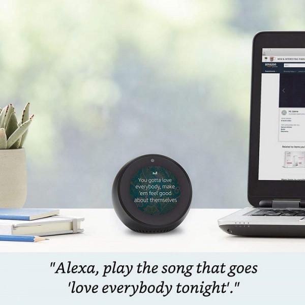 Echo Spot - Smart Display with Alexa - Black