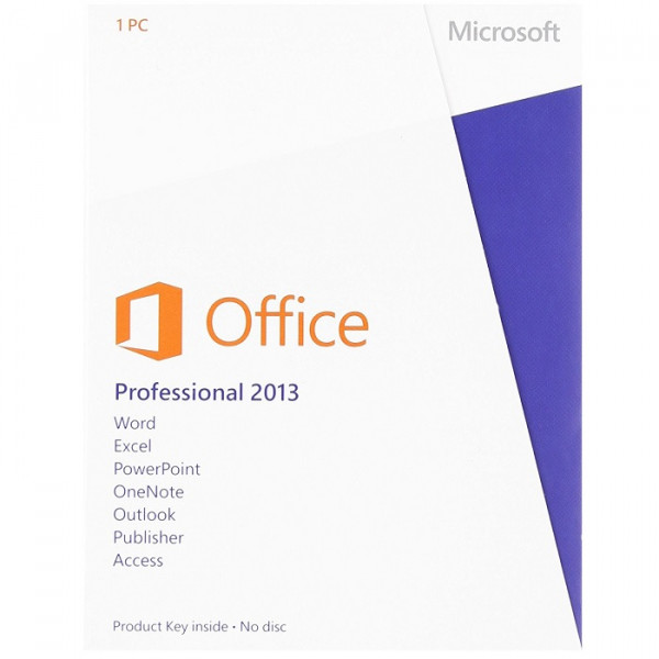 Microsoft Office Professional 2013 Software