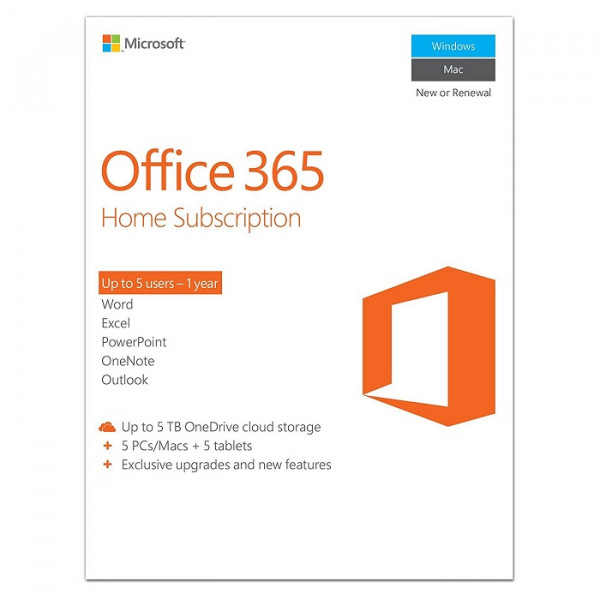 Microsoft Office 365 Home Software - Key