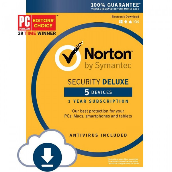 Norton Security Deluxe Antivirus Security - 1 Year - Key